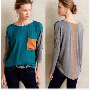 Anthropologie | Dolan Left Coast Colorblock Tee XS